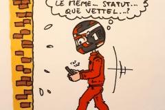 Leclerc crashe sa Ferrari dans le T8 lors des qualifications à Baku
